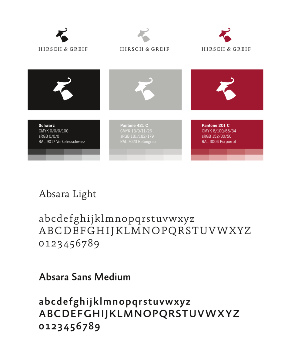Hirsch & Greif - Logos, Colors and Typography
