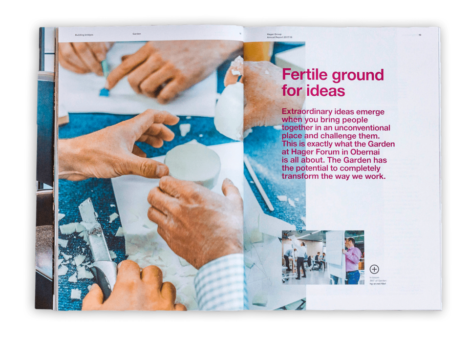 Hager Group AR2017/18 - Double-page spread